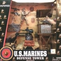 U.S. Marines Play Set Defense Tower Action Figure Official Military New