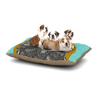 "Art Love Passion ""Racoon in Grass"" Gray Teal Dog Bed"