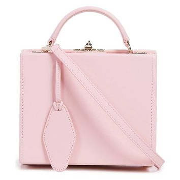 Pop & Suki Personalized Leather Box Bag - Cotton Candy