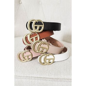 Thin Matte Gucci Inspired Belt | Colors
