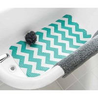 Mainstays Softex Designer Cushion Bath Mat, Chevron Teal Island - Walmart.com