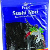 Eden Foods Sushi Nori - Cultivated - Toasted - .6 Oz - Case Of 6