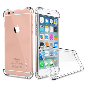CRYSTAL CLEAR SERIES Soft TPU Case for iPhone 7 6s 6 Plus Protective Back Cover for Samsung Galaxy S7 Edge