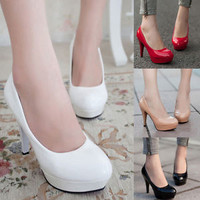 Womens Wedding Court Party High Heels Platform Shoes Club Stiletto Sexy Pumps