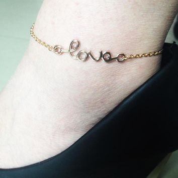 Cute Sexy Ladies Gift Jewelry New Arrival Shiny Summer Stylish Alphabet Accessory Anklet [6768774983]