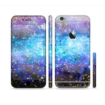 The Glowing Space Texture Sectioned Skin Series for the Apple iPhone 6 Plus