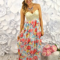 Fields of Flowers Maxi in White