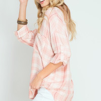 Baby Pink Plaid Tunic
