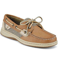 Women's Bluefish 2-Eye Boat Shoe in Linen Oat by Sperry