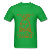 METALLIC GOLD PRINT! We Gonna Party Like It's My Birthday, Jesus Christmas Unisex T-Shirt