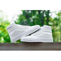 Vans CUSTOMIZE Customs Sk8-Hi All White ZY-041 Sneaker Casual Shoes-1
