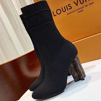 Louis Vuitton Women Fashion Casual Short Boots