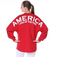 America Land of the Free Spirit Football Jersey®
