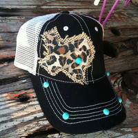 """""""Texas"""" custom-made hat (5-styles) from PeaceLove&Jewels"""