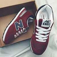 New Balance Z-shaped shoes sports casual running shoes tide retro shoes Burgundy