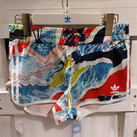 Adidas Woman Print Sports Leisure Shorts