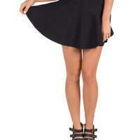 Knit Flared Mini Skirt - Large