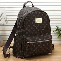 LV Louis Vuitton Cute Pattern Leather Travel Bag Backpack Daypack Bag