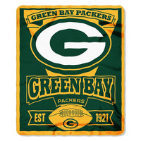 Green Bay Packers NFL Light Weight Fleece Blanket (Marque Series) (50inx60in)