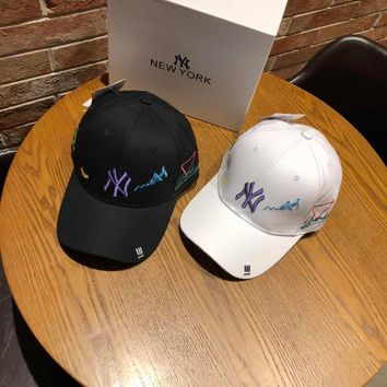 """New York Yankees"" Unisex Personality Fashion Letter Embroidery Baseball Cap Couple Peaked Cap Sun Hat"