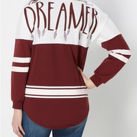 Dreamer Tribal Drop Yoke Sweatshirt