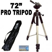 Professional PRO 72-inch Super Strong Tripod With Deluxe Soft Carrying Case For The Canon Digital Rebel T1i (EOS 500D) SLR Camera