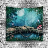 Tapestry Forest Nature Printed Tapestry Wall Hanging Home Decor Wall Art Tapestry Curtains for Bedroom Outdoor