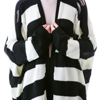 Evil Twin Isolation Cardigan Black/White