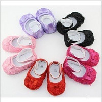 Baby Decorative Bow and Roses Shoes