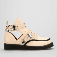 Jeffrey Campbell The Damned Coltman Leather Creeper- Nude 9