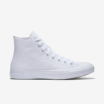The Converse Chuck Taylor Monochrome High Top Unisex Shoe.