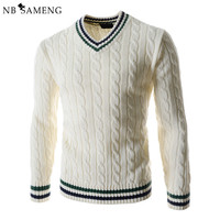 2016 New Fashion Winter Pullover Men Knitted Slim Sweater Christmas Jumper Mens Casual V-neck Sweaters Sueter Hombre 13M0420