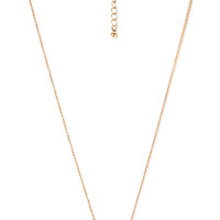 FOREVER 21 Sweet Rhinestone Bow Necklace Gold/Clear One