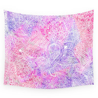 Society6 Pink Purple Paisley Love Wall Tapestry