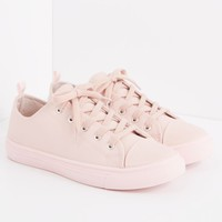 Light Pink Faux Leather Low Top Sneaker | Low Top Sneakers | rue21