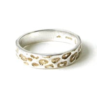 Thin Leopard Ring With Gold Detail