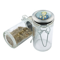 Glass Stash Jar - Fallout #2 - 75ml Storage Container - Secret Stash Box for Custom Herb Grinder - Stay Fresh Herbs 1/6 oz.