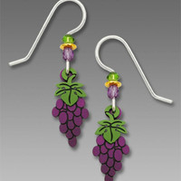 Sienna Sky Earrings - Petite Purple Grape Cluster