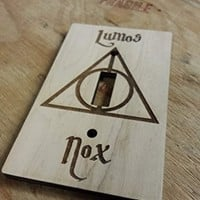 Harry Potter Engraved Wood Light Switch Cover (Single)