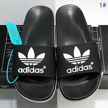 Adidas New fashion letter leaf shoes flip flop slippers shoes 1#
