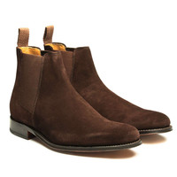 Grenson Declan Suede Chelsea Boot in Chocolate