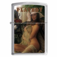 Zippo 0710 Classic Brushed Chrome Playboy Cover June 1973 Windproof Pocket Lighter