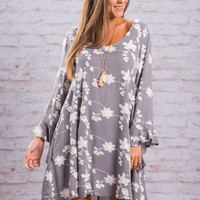 Always Agreeable Dress, Gray