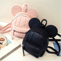 2017 New Women's Leather Backpack Cartoon children backpacks mini back pack backpacks for teenage girls small mouse New Style