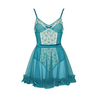 Forest Garden Bodysuit and Ruffle Apron
