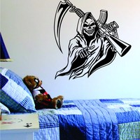 Grim Reaper Tattoo Design Decal Sticker Wall Art Vinyl Artwork