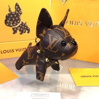 LV Louis Vuitton Newest Cute Small Dog Bag Hanging Drop Car Key Chain Bag Accessories