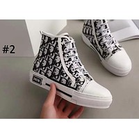 DIOR 2019 new casual lace canvas women's high-top sneakers #2