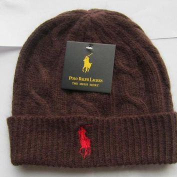CREY8KY POLO Merino Wool Hat Brown-Red
