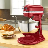 KitchenAid KV25G0XER Red Artisan 5-Quart 450-Watt Stand Mixer